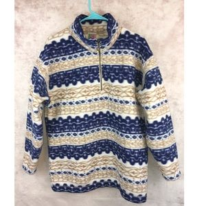 Vintage fleece Quarter Zip Pullover